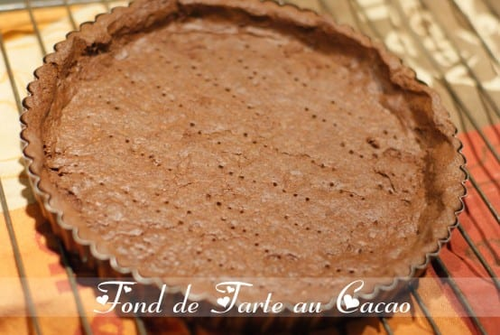 pate sablee au cacao fond de tarte au cacao amour de cuisine. Black Bedroom Furniture Sets. Home Design Ideas