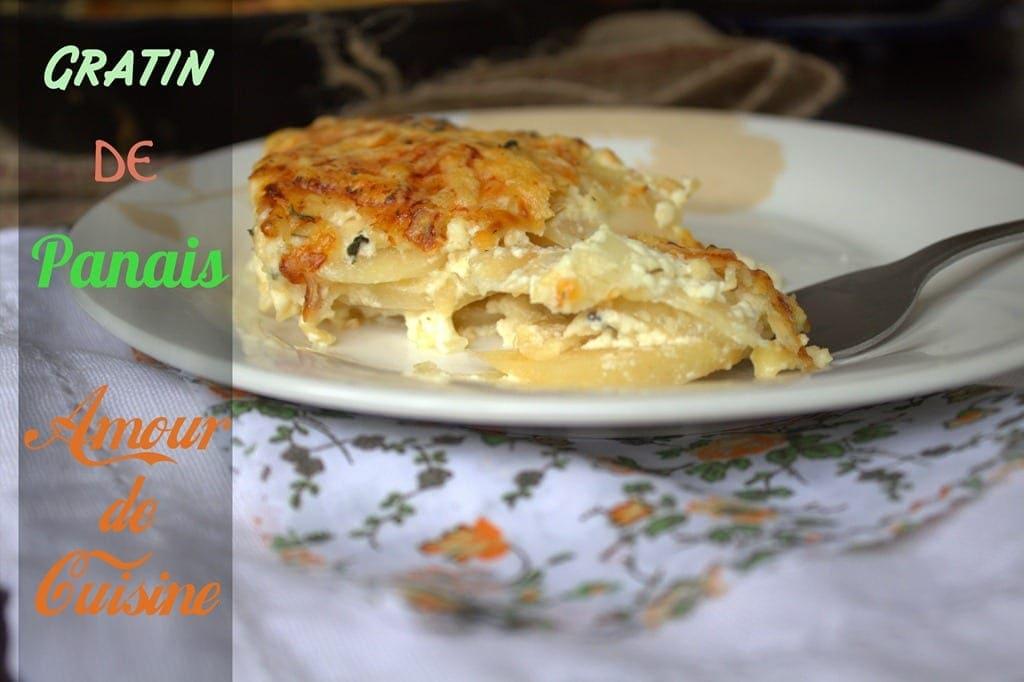 Recette de gratin de panais amour de cuisine - Comment cuisiner du panais ...