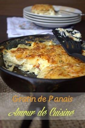 recette de gratin de panais - amour de cuisine