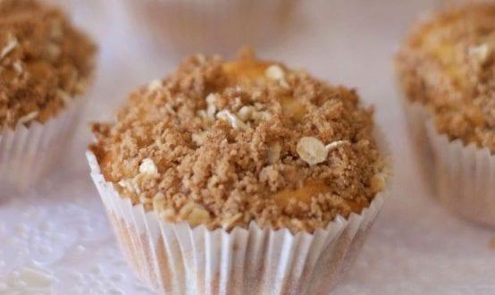 muffins abricots framboises et streusel