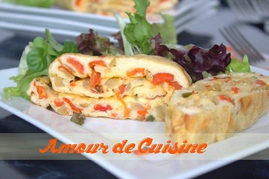 omelette au four / roulé aux oeufs facile