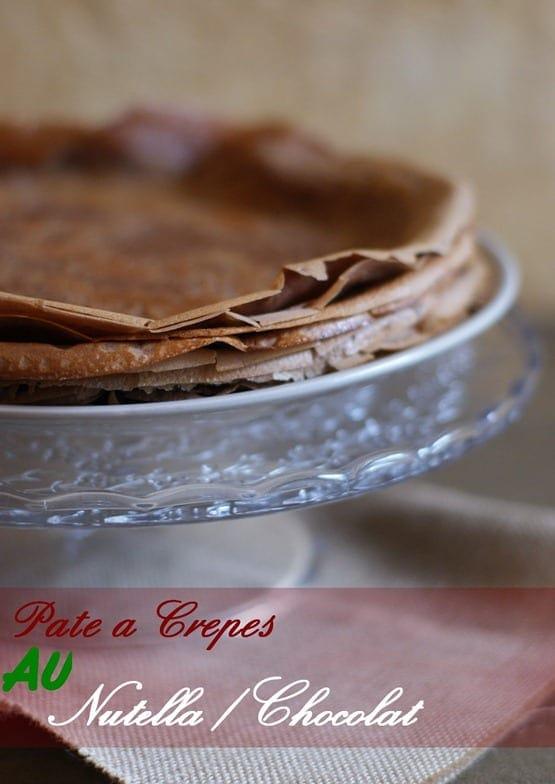 pâte a crêpe au Nutella-au chocolat, facile et rapide
