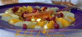 salade d'agrumes, salade d'oranges pamplemousse mandarine