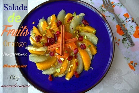 salade d'agrumes, salade de fruits, orange pamplemousse mandarine.CR2