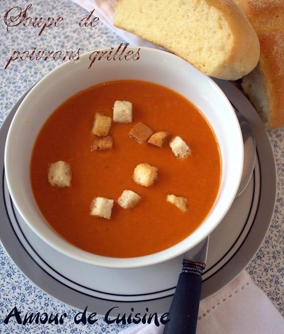 soupe de poivrons grilles, veloute de poivron grilles.CR2