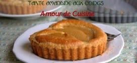 tarte amandine aux coings / recettes au coings