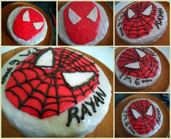 gateau d'anniversaire spider man