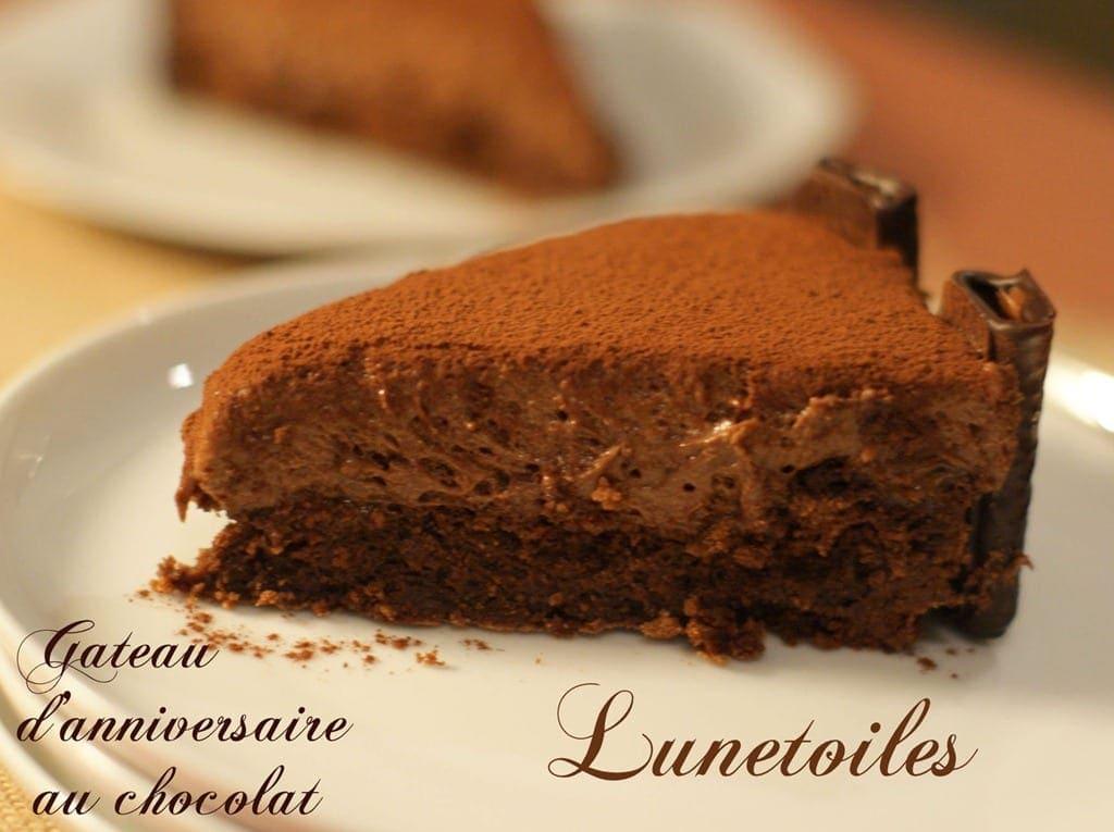 gateau d'anniversaire moelleux au chocolat sans gluten
