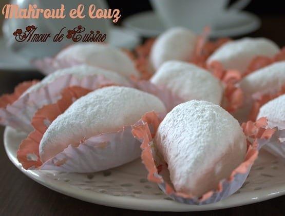 Gateau algerien makrout el louz amour de cuisine for Amour de cuisine arabe