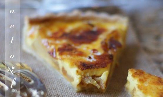 tarte a la crème brûlée aux pommes