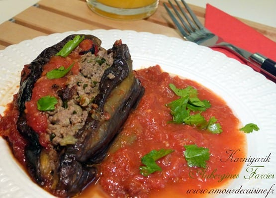 Aubergines farcies recette turque karniyarik amour de cuisine - Recette amour de cuisine ...