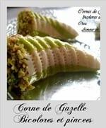 corne de gazelle bicolore pincee au miel