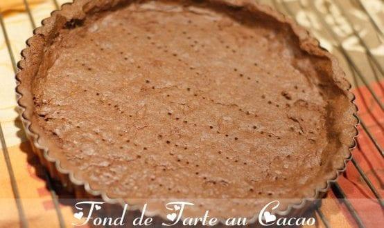 pate sablee au cacao / fond de tarte au cacao