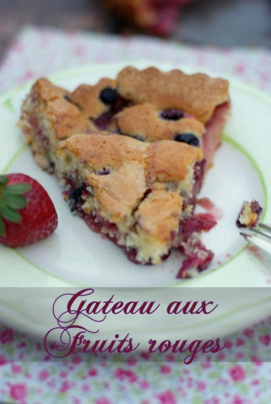 gateau aux fruits rouges