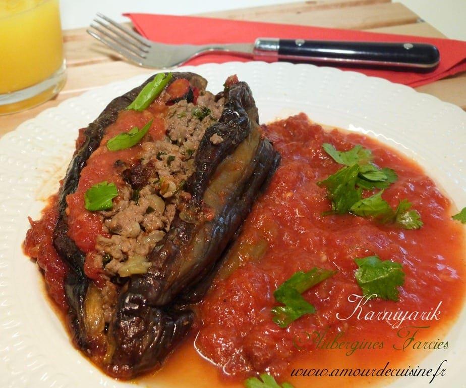 Aubergine farcie au four amour de cuisine for Amoure de cuisine