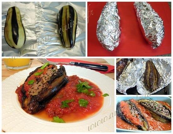 aubergines farcies / recette turque: karniyarik