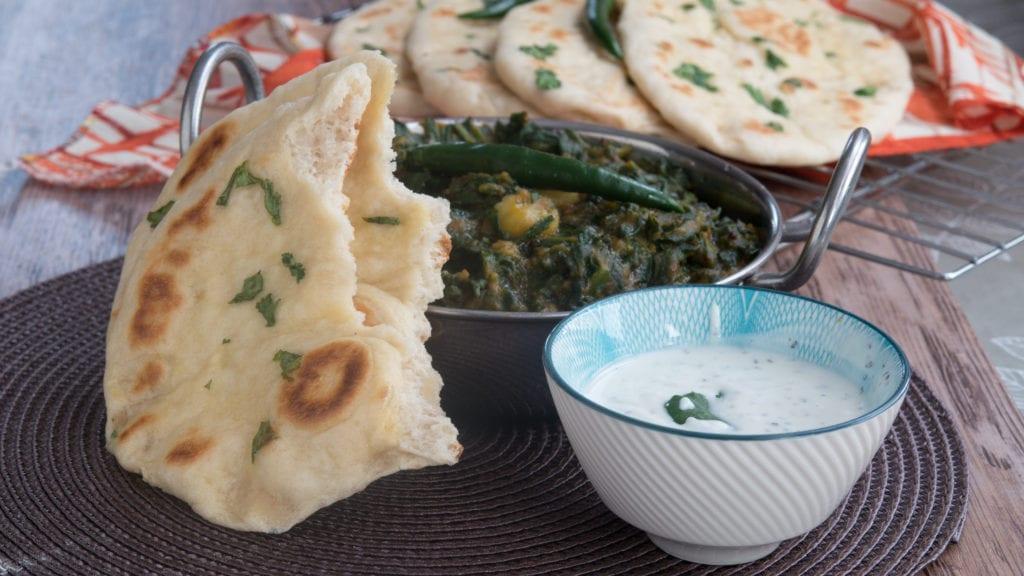 les pains indiens naans à la coriandre 1