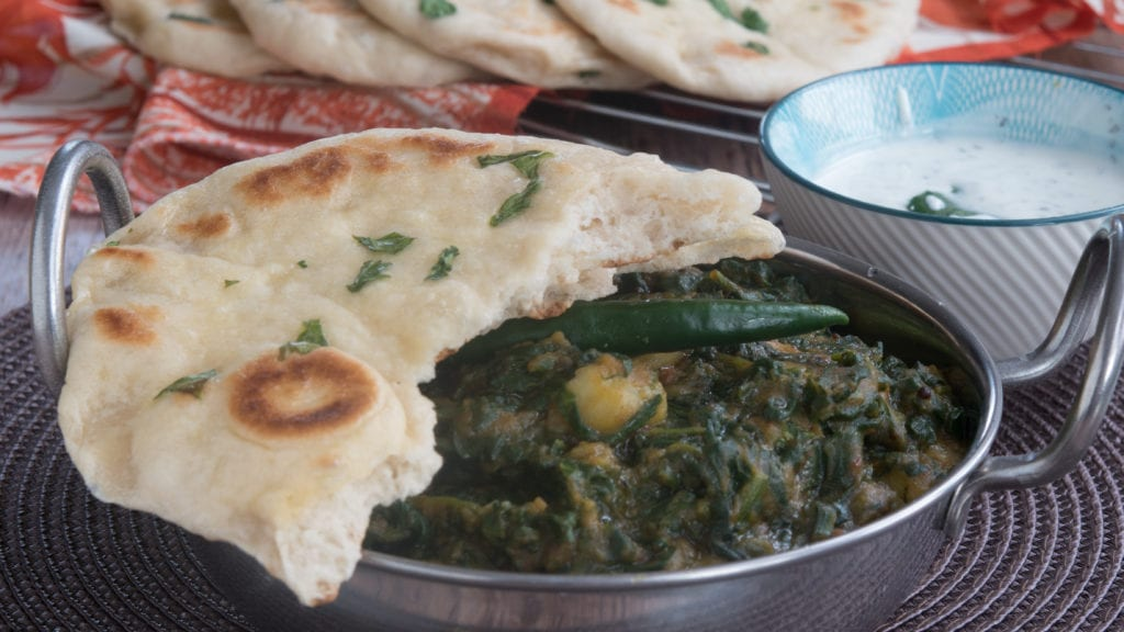 les pains indiens naans à la coriandre 2