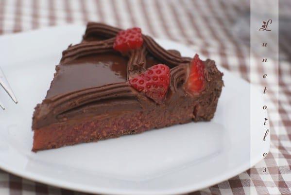 Tarte au chocolat et fraises amour de cuisine for 1 amour de cuisine