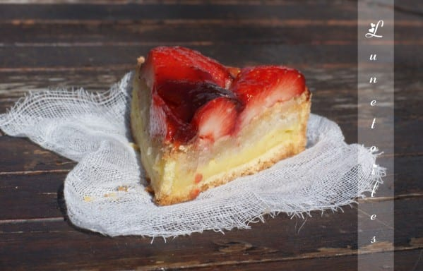 tarte macaron fraises