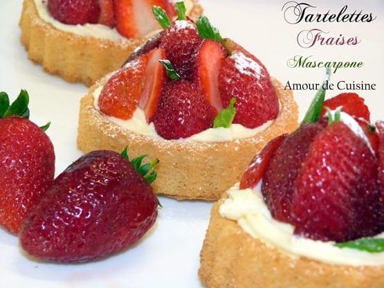 tartelettes genoise aux fraises