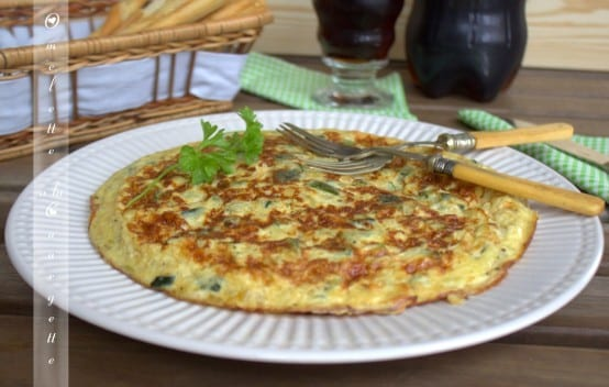 omelette espagnole ou tortilla aux courgettes