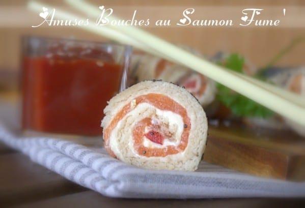Amuses Bouches Au Saumon Fum Amour De Cuisine
