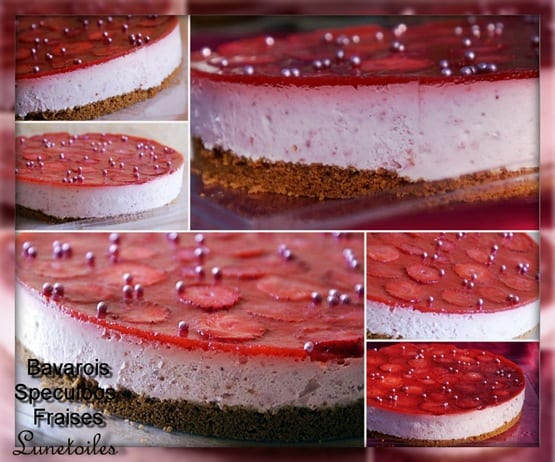Decoration entremet fraise for Decoration gateau nouvel an