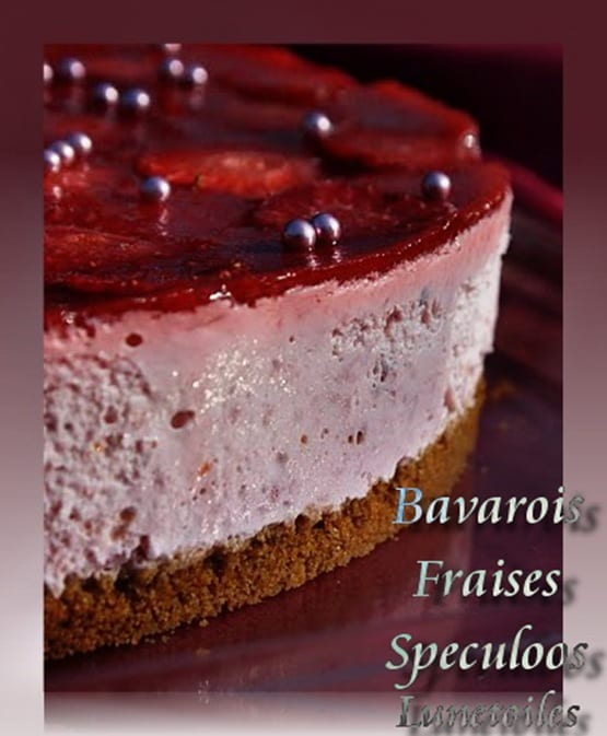 Gateau speculoos fraise