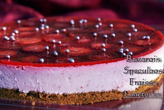 Gateau speculoos fraise