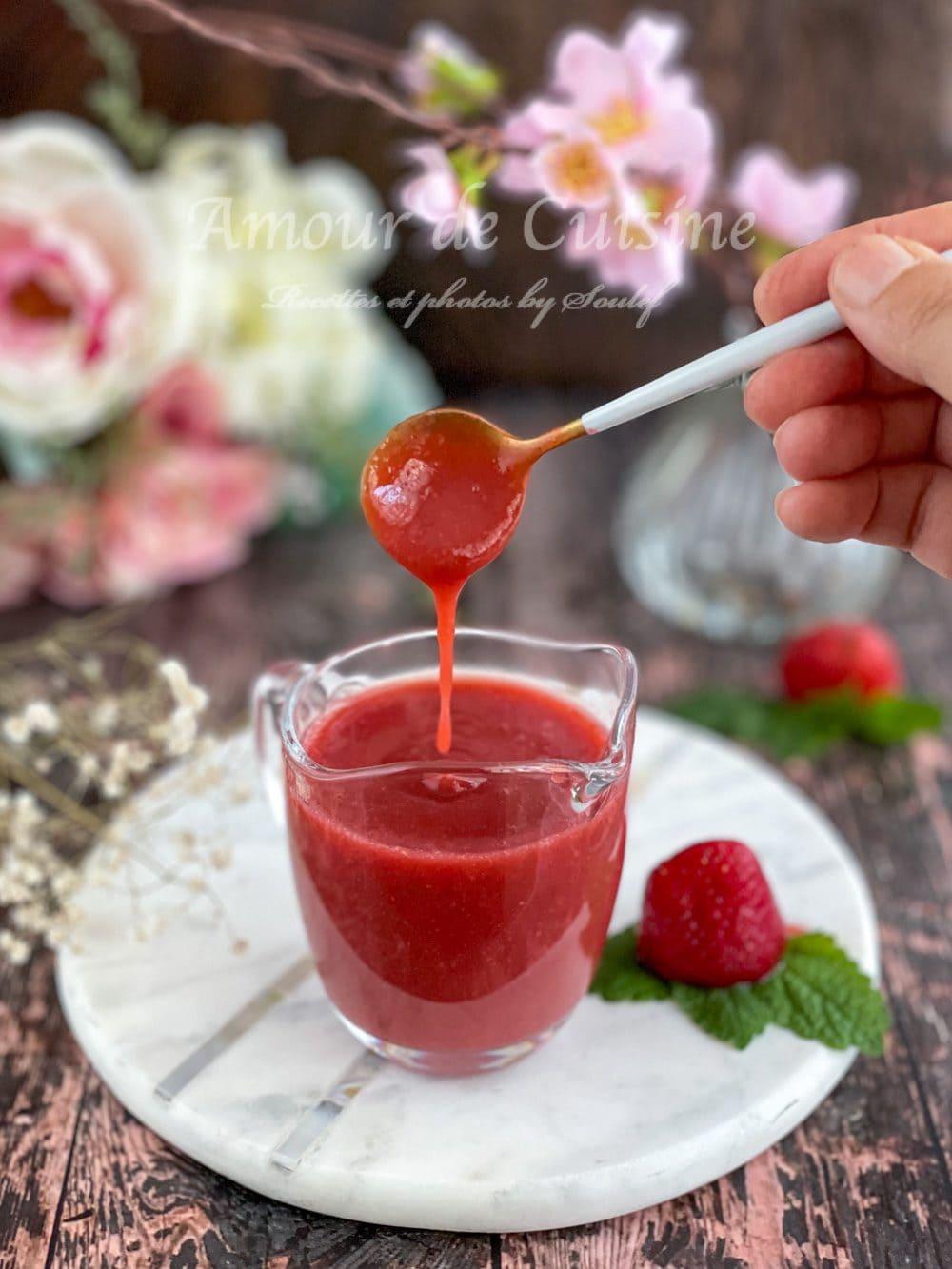 coulis de fraises onctueux au Thermomix