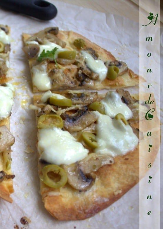 pizza tortillas aux chignons amour de cuisine