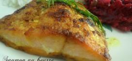 Saumon au four au beurre d'épices douces
