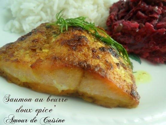 saumon au beurre doux epice