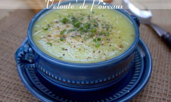soupe veloutée de poireaux et parmesan