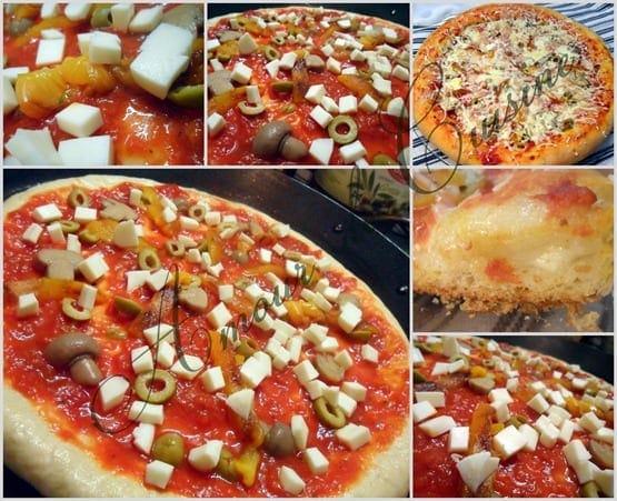 2011-10-25 pizza au poivron griller