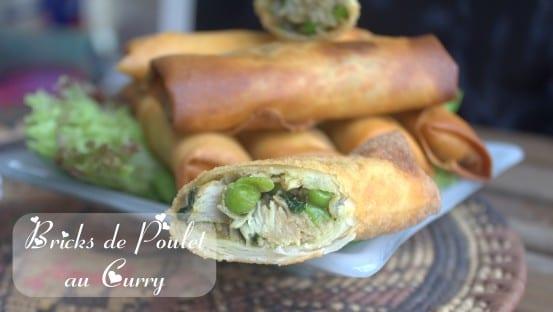 Brick de poulet au curry / recette en video