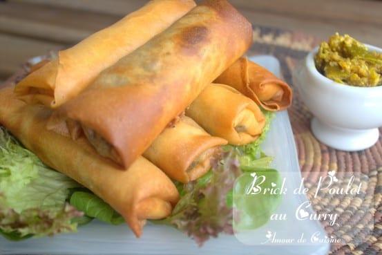 Brick de poulet au curry recette en video amour de cuisine - Recette de cuisine tunisienne pour le ramadan ...