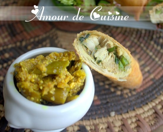 Brick de poulet au curry recette en video amour de cuisine - Cuisine poulet au curry ...