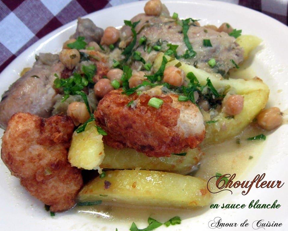 Chou fleur en sauce blanche cuisine algerienne amour de for Algerienne cuisine