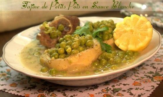 Tajine de petits pois en sauce blanche / cuisine algerienne