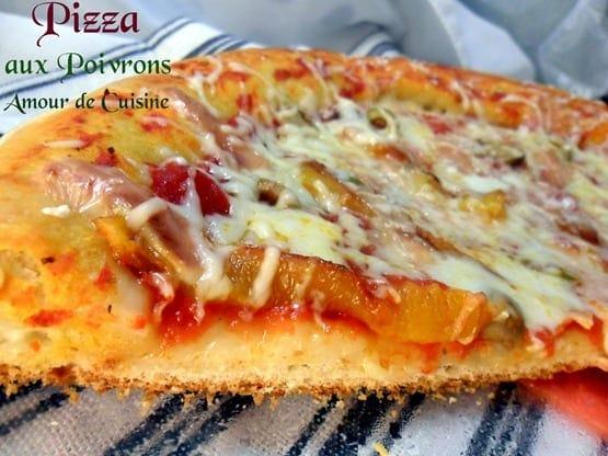 pizza aux poivrons pizza moelleuse amour de cuisine