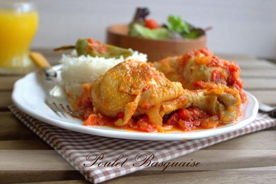 Poulet basquaise recette facile amour de cuisine for 1 amour de cuisine