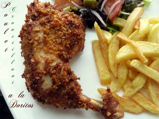cuisse de poulet panee