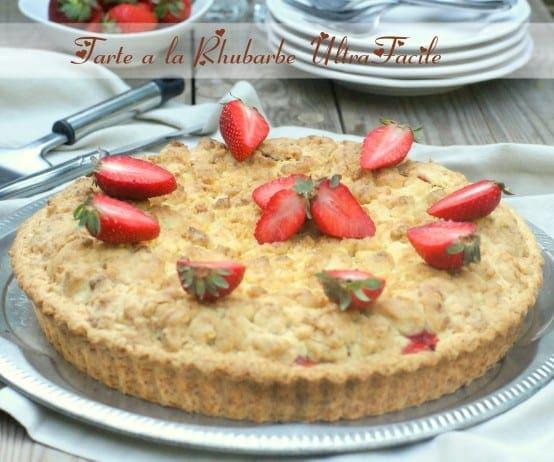tarte a la rhubarbe et fraises ultra facile