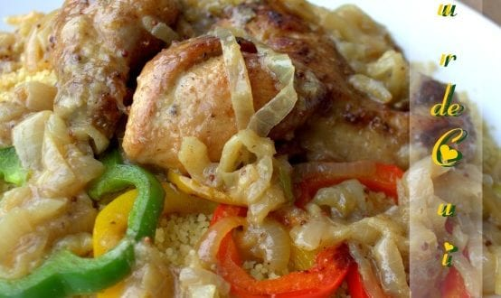 poulet yassa au couscous