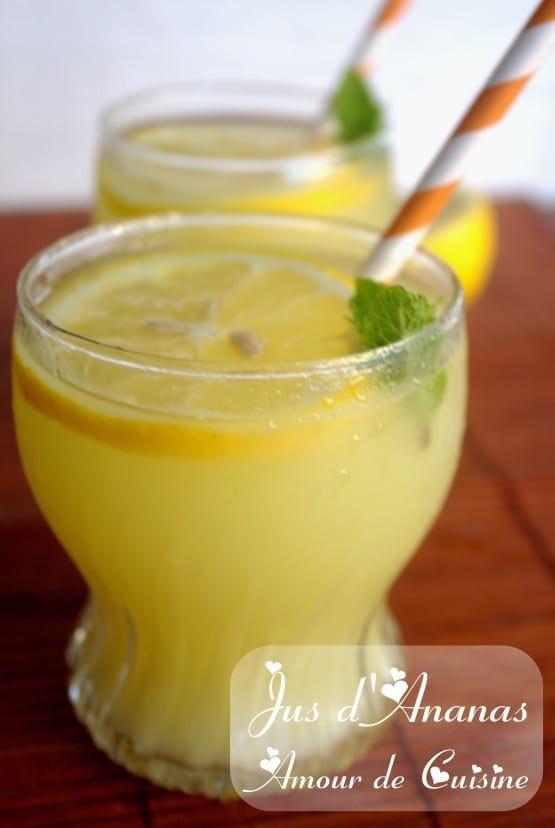 Jus d 39 ananas boisson rafraichissante amour de cuisine for 1 amour de cuisine