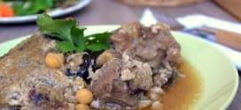aubergines en sauce, mderbel algerien