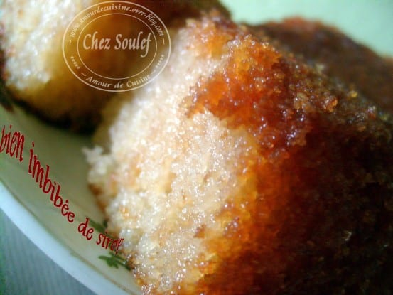 Basboussa gateau de semoule patisserie algerienne for Amour de cuisine algerienne