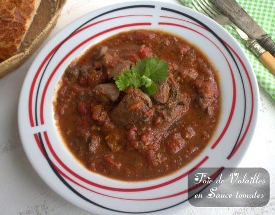 Foie de volailles en sauce tomate amour de cuisine for 1 amour de cuisine